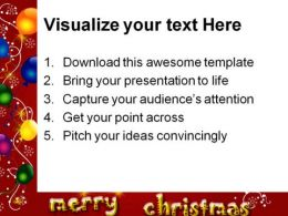 Merry Christmas Background PowerPoint Templates And PowerPoint Backgrounds 0511  Presentation Themes and Graphics Slide03