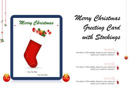 Merry Christmas Greeting Card With Stockings