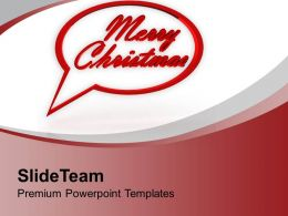 Merry Christmas Holiday PowerPoint Templates PPT Themes And Graphics 0113