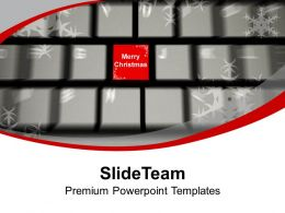 Merry Christmas On Keyboard PowerPoint Templates PPT Themes And Graphics 0113