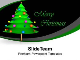 Merry Christmas Tree Festival Celebration Powerpoint Templates Ppt Themes And Graphics 0113