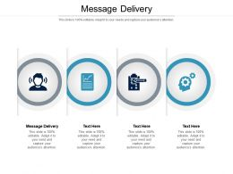 Message Delivery Ppt Powerpoint Presentation Icon Format Ideas Cpb