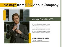 Message From CEO About Company
