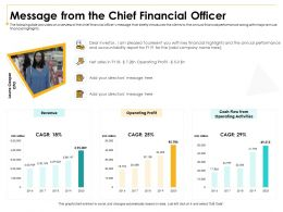 Message From The Chief Financial Officer Dear Ppt Powerpoint Presentation Inspiration Files