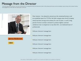 Message From The Director Add Company Ppt Powerpoint Presentation Slides Elements