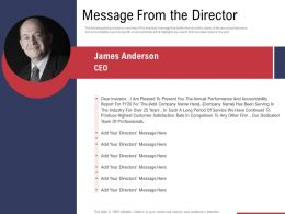 Message From The Director Ppt Powerpoint Presentation Ideas Information
