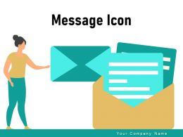 Message Icon Download Notification Through Speech Bubble Confirmation
