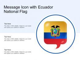 Message Icon With Ecuador National Flag