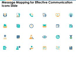 Message Mapping For Effective Communication Icons Slide Portfolio Ppt Slides
