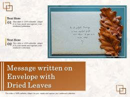 Message Written On Envelope With Dried Leaves