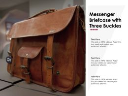Messenger Briefcase With Three Buckles