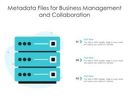 Metadata Files For Business Management And Collaboration