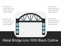 Metal Bridge Icon With Black Outline