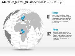 metal_cage_design_globe_with_pins_for_europe_and_africa_ppt_presentation_slides_Slide01