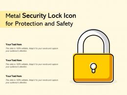Metal Security Lock Icon For Protection And Safety