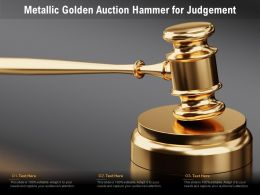 Metallic Golden Auction Hammer For Judgement