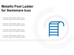 Metallic Pool Ladder For Swimmers Icon