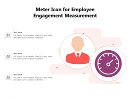 Meter Icon For Employee Engagement Measurement