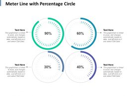Meter Line With Percentage Circle