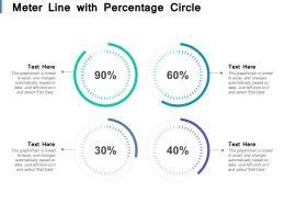 Meter Line With Percentage Circle