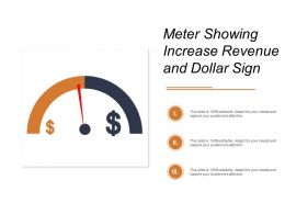 Meter Showing Increase Revenue And Dollar Sign