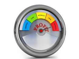 Meter Showing Maximum Level Of Business Profit Stock Photo