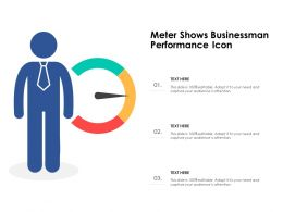 Meter Shows Businessman Performance Icon