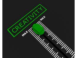 Meter To Measure Creativity Stock Photo