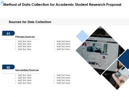 Method Of Data Collection For Academic Student Research Proposal Ppt Powerpoint Tips