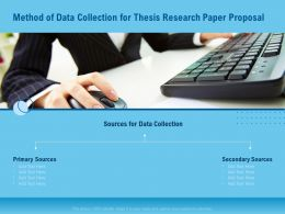 Method Of Data Collection For Thesis Research Paper Proposal Ppt Infographics