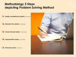 Methodology 5 Steps Depicting Problem Solving Method
