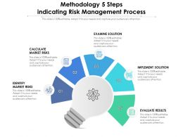 Methodology 5 Steps Indicating Risk Management Process