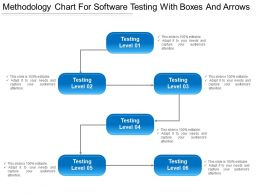Methodology Chart For Software Testing With Boxes And Arrows