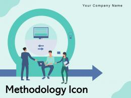 Methodology Icon Arrows Strategies Gear Research Cogwheel Bulb