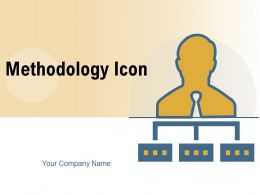 Methodology Icon Flowchart Arrow Direction Strategy Gear Business Structure Organization Circle