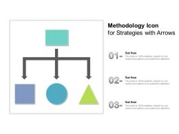 Methodology Icon For Strategies With Arrows