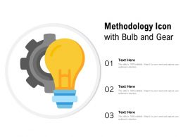 Methodology Icon With Bulb And Gear