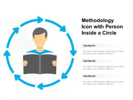 Methodology Icon With Person Inside A Circle