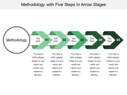 Methodology With Five Steps In Arrow Stages