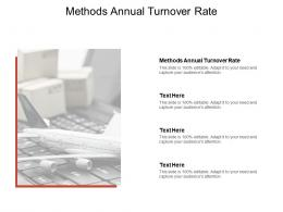 Methods Annual Turnover Rate Ppt Powerpoint Presentation Inspiration Cpb