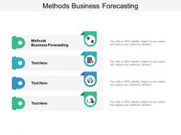 Methods Business Forecasting Ppt Powerpoint Presentation Icon Guidelines Cpb