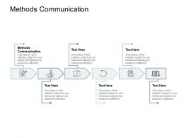 Methods Communication Ppt Powerpoint Presentation Gallery Styles Cpb