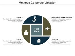 Methods Corporate Valuation Ppt Powerpoint Presentation Styles Deck Cpb
