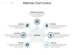 Methods Cost Control Ppt Powerpoint Presentation Summary Mockup Cpb