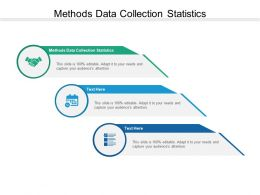 Methods Data Collection Statistics Ppt Powerpoint Presentation Inspiration Brochure Cpb