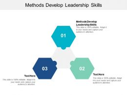 Methods Develop Leadership Skills Ppt Powerpoint Presentation Gallery Styles Cpb