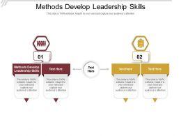 Methods Develop Leadership Skills Ppt Powerpoint Presentation Portfolio Pictures Cpb