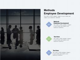 Methods Employee Development Ppt Powerpoint Presentation Outline Background Cpb
