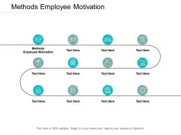 Methods Employee Motivation Ppt Powerpoint Presentation Ideas Cpb