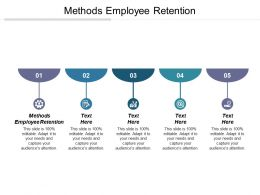 Methods Employee Retention Ppt Powerpoint Presentation Gallery Portfolio Cpb
